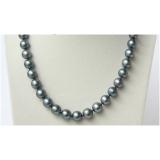 Perlový náhrdelník černé jezerní perly 12mm, barva tahiti NJ9119