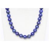 Náhrdelník modrý lapis lazuli 14mm NJ9735
