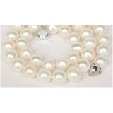 Perlový náhrdelník bílé jezerní perly 11mm NJ9782