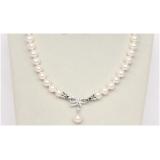 Perlový náhrdelník bílé jezerní perly 10mm NJ9828