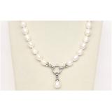 Perlový náhrdelník bílé jezerní perly 13mm NJ9833