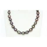 Perlový náhrdelník černé jezerní barokní perly 17mm NJ9947