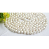 Perlový náhrdelník bílé jezerní perly 11mm NJ7358