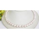 Perlový náhrdelník bílé jezerní perly 11mm NJ7827
