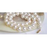 Perlový náhrdelník bílé jezerní perly 11mm NJ7503