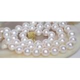 Perlový náhrdelník bílé jezerní perly 10mm NJ7081