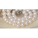 Perlový náhrdelník bílé jezerní perly 10mm NJ8066