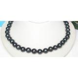 Perlový náhrdelník černé jezerní perly 12mm NJ8189