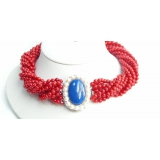 Náhrdelník červený korál  NJ4116