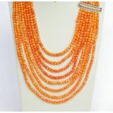Náhrdelník oranžový korál 5mm NJ8345