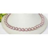 Perlový náhrdelník levandulové jezerní perly 11mm NJ8315