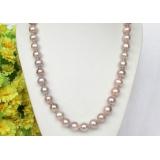 Perlový náhrdelník levandulové jezerní perly 11mm NJ8318