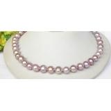 Perlový náhrdelník levandulové jezerní perly 11mm NJ8312