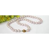 Perlový náhrdelník levandulové jezerní perly 10mm NJ6790