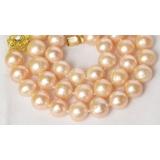 Perlový náhrdelník růžové jezerní perly 10mm NJ8040
