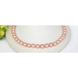 Perlový náhrdelník růžové jezerní perly 11mm NJ8309