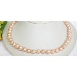 Perlový náhrdelník růžové jezerní perly 10mm NJ7826