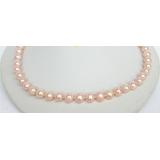 Perlový náhrdelník růžové jezerní perly 10mm NJ6634