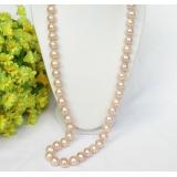 Perlový náhrdelník růžové jezerní perly 12mm NJ7387