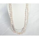 Perlový náhrdelník růžové barokní jezerní perly 12mm NJ6897