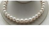 Perlový náhrdelník bílé jezerní perly 14mm NJ9417