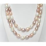 Perlový náhrdelník barevné barokní jezerní perly 14mm  NJ7079