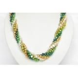 Perlový náhrdelník barevné barokní jezerní perly 14mm NJ6443