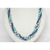 Perlový náhrdelník barevné barokní jezerní perly 14mm NJ6442