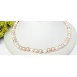 Perlový náhrdelník barevné jezerní perly 8mm NJ7678