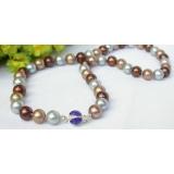 Perlový náhrdelník barevné jezerní perly 10mm NJ7389