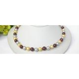 Perlový náhrdelník barevné jezerní perly 10mm NJ7386