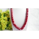 Náhrdelník červený korál 15mm NJ7306