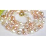 Perlový náhrdelník barevné barokní jezerní perly 15mm NJ7846