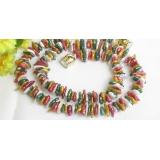 Perlový náhrdelník barevné barokní jezerní perly reborn keshi 9mm NJ7653