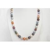 Perlový náhrdelník barevné jezerní perly 10mm NJ6788