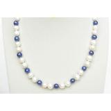 Perlový náhrdelník barevné jezerní perly 9mm NJ8246