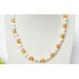 Perlový náhrdelník barevné jezerní perly 9mm NJ8247