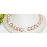 Perlový náhrdelník barevné jezerní perly 13mm NJ7854