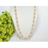 Perlový náhrdelník barevné jezerní perly 10mm NJ7698