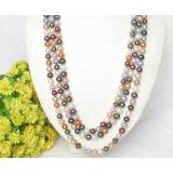 Perlový náhrdelník barevné jezerní perly 10mm NJ8033