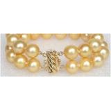Perlový náramek zlaté jezerní perly 12mm BJ8538