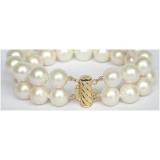 Perlový náramek bílé jezerní perly 12mm BJ8535
