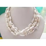 Perlový náhrdelník bílé jezerní perly 22mm NB115
