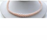 Perlový náhrdelník růžové jezerní perly 10mm NJ9483