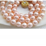 Perlový náhrdelník jezerní růžové perly 10mm NJ9466
