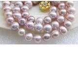 Perlový náhrdelník jezerní levandulové perly 10mm NJ9465