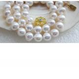 Perlový náhrdelník jezerní bílé perly 10mm NJ9469