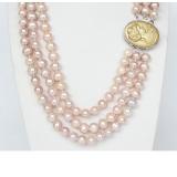 Perlový náhrdelník růžové jezerní perly 9mm NJ9375