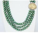 Perlový náhrdelník zelené jezerní perly 9mm NJ9372