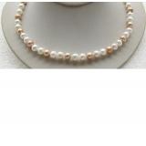 Perlový náhrdelník jezerní perly 9mm NJ9409